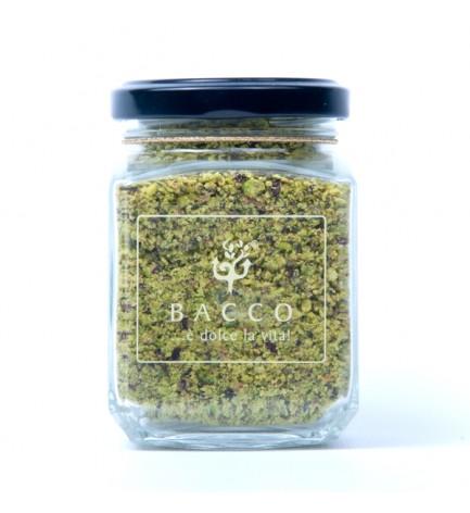 Pour Pistachio's Flour in a jar