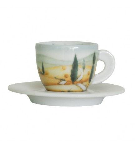 "6 Coffee Cups - Decor ""Italian Landscapes"""