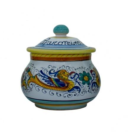 whole chili pepper caddy - ceramics from Deruta