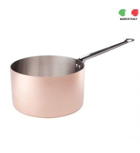 Copper Pan with front handle Agnelli 28cm